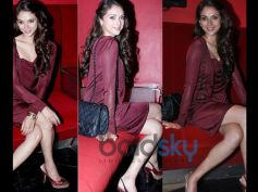 Aditi Rao Hydari's Stylish Appearances Maroon Dress