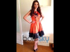 Aditi Rao Hydari's Stylish Appearances  Orange and Black Dress