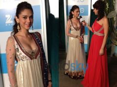 Aditi Rao Hydari's Stylish Appearances White and Golden Anarkali