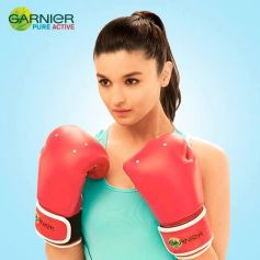 Alia Bhatt photoshoot for Garnier Pure Active ad