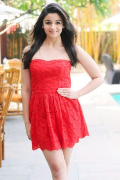 Alia Bhatt photoshoot in red mini Costume