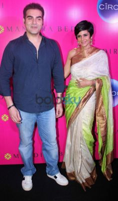 Arbaaz Khan and Mandira Bedi during launch