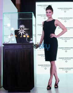 Beautiful Jacqueline Fernandez displays Foremark jewellery by Gareth Pugh