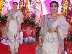 Kajol Looks Beautiful in Bengali Jamdani Saree