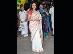 Rani Mukherjee in White and Red Cotton Saree