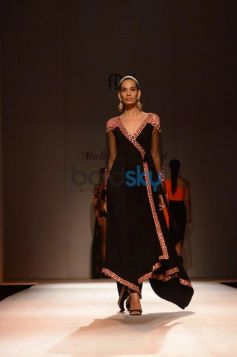 Black with nice border Dress Malini Ramani New Collection for WIFW