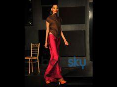 Blender Pride Fashion Tour model walking on ramp
