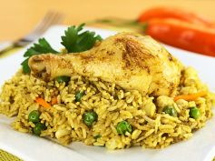 Chicken and Peas Rice