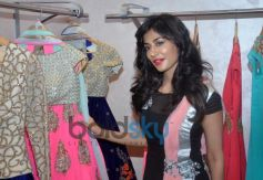 Chitrangda Singh cheking out costume at store
