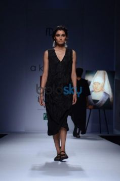 Day 2 of Wills India Fashion Week model ramp walk