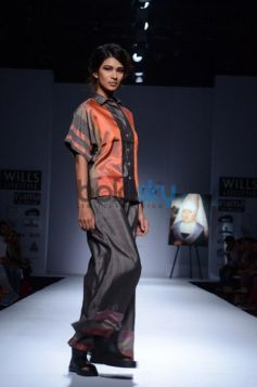 Day 2 of Wills India Fashion Week ramp walk models