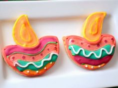 Diwali Special Colorfull Cookies Recipe