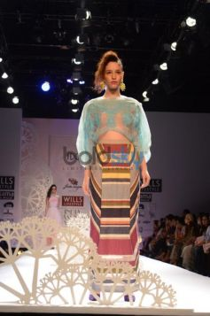 Geisha Designs by Paras & Shalini model in multicolored outfit