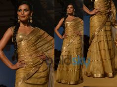 Golden Lehenga Saree