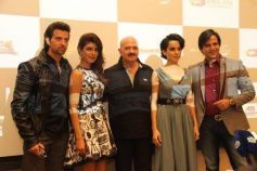 Hrithik Roshan Rakesh Roshan at Krrish 3 film promotion at Dubai
