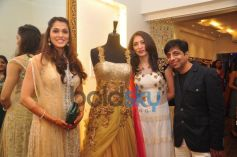 Isha Koppikar at the launch of Sujata Ahuja and Sanjay Lalwani's Bridal Collection
