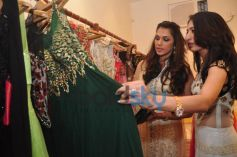 Isha Koppikar check out green costume Sujata Ahuja and Sanjay Lalwani's Bridal Collection
