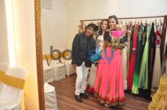 Isha Koppikar with pink outfit Sujata Ahuja and Sanjay Lalwani's Bridal Collection