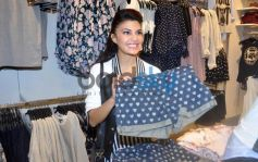 Jacqueline Fernandez cheks out some clothes at Event