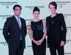 Jacqueline Fernandez displays Foremark Diamond jewellery by Gareth Pugh
