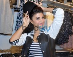 Jacqueline Fernandez trying hat at launch