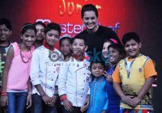 Junior MasterChefs  with Actress Sonakshi Sinha on Junior MasterChef tv show