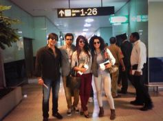 Krrish 3 Stars at airport film promotion at Dubai