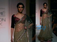 Light Grey Sequinned Lehenga Saree