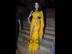 Mallika Sherawat Birthday Special yellow saree