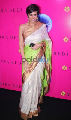 Mandira Bedi looking beautiful during her new sari store