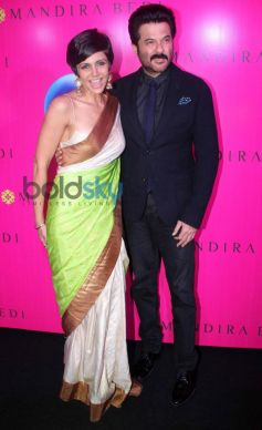 Mandira Bedi with Anil Kapoor during launch