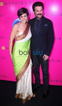 Mandira Bedi with Anil Kapoor during new store launch