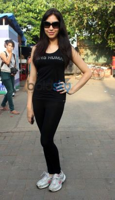 Celebs posing at Max Bupa Walk for Health