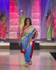 Model ramp walk on stage in beautiful costume