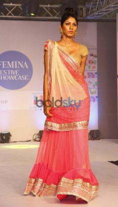 Models walked the ramp at Femina Festive Showcase 2013 at R Mall..,