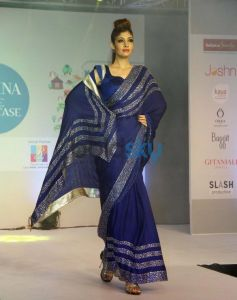 Models walked the ramp at Femina Festive Showcase 2013 at R Mall.,