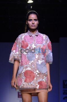 Nachiket Barve Day 1 WIFW SS 2014 model in innovative costume
