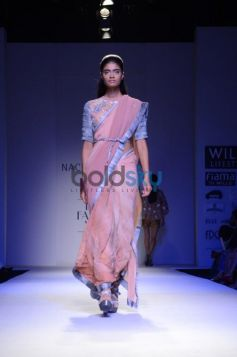 Nachiket Barve Day 1 WIFW SS 2014 model in saree