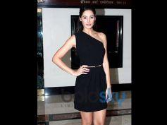 Nargis Fakhri in Black One Shoulder Dress