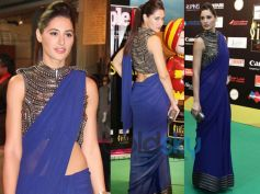 Nargis Fakhri in Blue Saree
