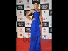 Nargis Fakhri in Midnight Blue Gown