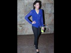 Nargis Fakhri in Sheer Blue Shirt
