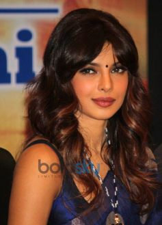 Priyanka Chopra in saree at Healthcare Global Enterprises Cancer Centre Events