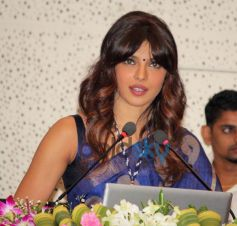 Priyanka Chopra speaking in  Healthcare Global Enterprises Cancer Centre Events