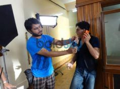 Shahrukh Khan makeup in Nokia Lumia ad shoot