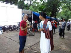 Shahrukh Khan at the set Nokia Lumia ad shoot