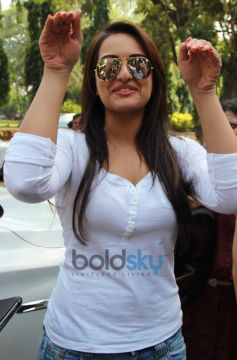 Sonakshi Sinha different pose at launch Smile on Wheels Events