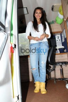 Sonakshi Sinha at launch Smile on Wheels