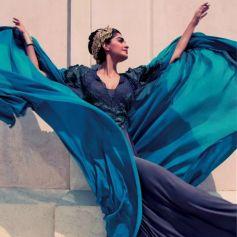 Sonam Kapoor in Blue Stunning Costume