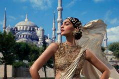 Sonam Kapoor in Goden Designer Costume
